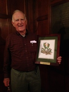 Allan French with the 2017 Elaine Beals Award. (photo courtesy of Debbie Costine)